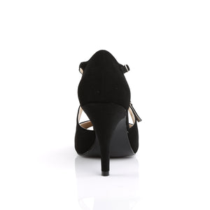 Peep Toe Nubuck Black Sandals