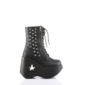 Star Cutout Wedge Platform Ankle Boots