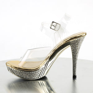Star of the Night Gold Rhinestone Platform Sandals