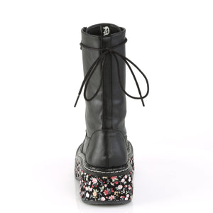 Flower Fabric Wrapped Platform Boots