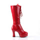 Exotica Platform Lace Up Boots Red
