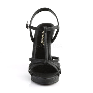 Flair Black PU Strappy Heels