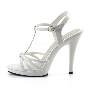 Flair White Strappy Heels
