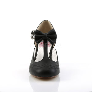 Flapper Black Kitten Heels