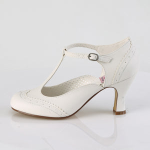 Flapper Wedding Shoes White
