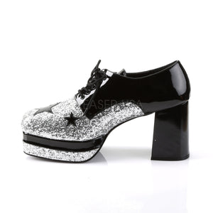 1950's Rock Star Shoes Black Silver