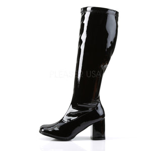 Wide Calf Black PA Gogo Boots