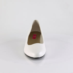 1 Inch Heel Sexy White Pumps