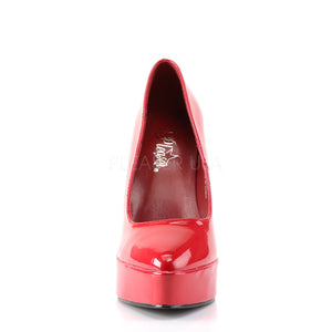 She is the Boss Red Platform Heels