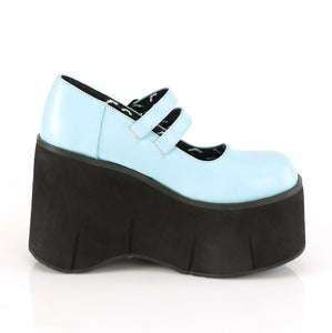 Mary Jane Style Blue Platform Shoes