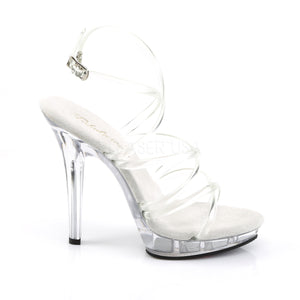 Lip-106 Clear Strappy Heels