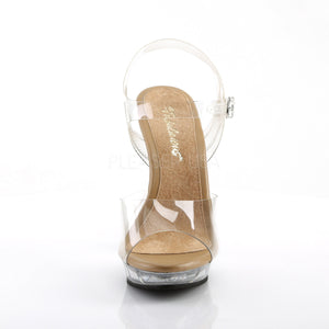 Lip-108 Clear/Tan Sandals