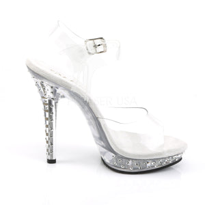 clear prom shoes