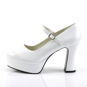 Mary Jane White Platform Pumps