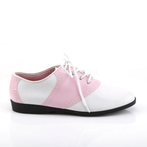 Flat Saddle Shoes Pink White