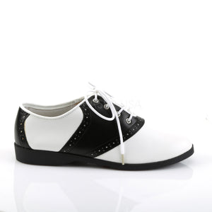 Flat Saddle Shoes Black White