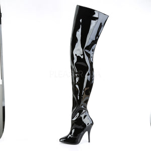 Wide Thigh High Sexy Shiny Boots