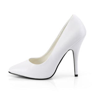 Seduce White PU Heels