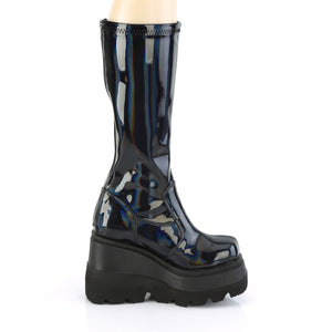 Panzer Shiny Hologram Knee High Boots