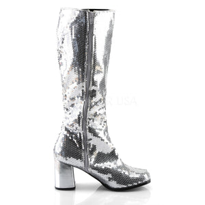 Silver Sequins Boots