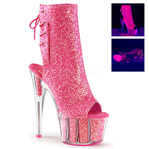 Sexy and Know It Neon Pink Glitter Boots
