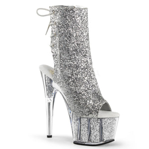 Sexy and Know It Silver Glitter Boots