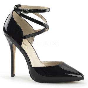 D'Orsay Cross Ankle Strap Black PA Heels