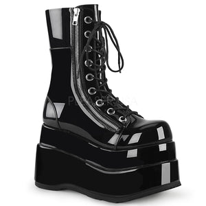 Tiered Platform Shiny Gothic Boots