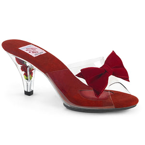Flower Filled Red Sexy Sandals
