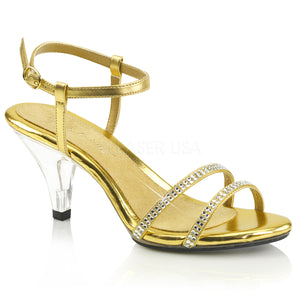 Rhinestone Prom Sandals Gold