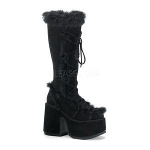 knee high fur boots