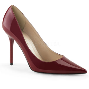 Raspberry Metallic Classic Stilettos