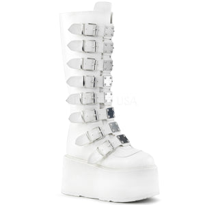white gothic boots