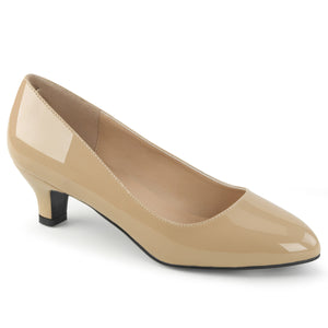 Comfortable Large Size Classic Cream Pumps