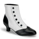 Victorian style black and white boots