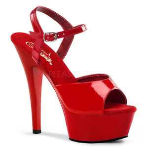 red pleaser shoes