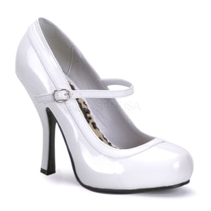 white pin up heels
