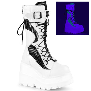 Time for Rave Platform Boots White