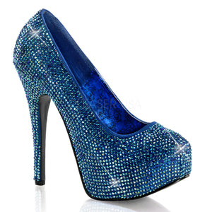blue rhinestone pumps