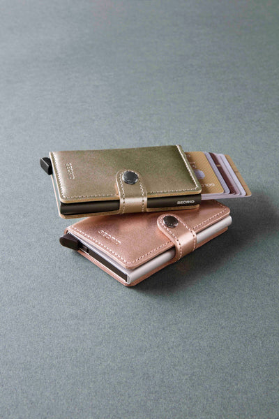 Secrid Miniwallet Metallic Champagne Brown