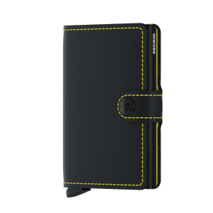 Secrid Miniwallet Matte Black & Yellow