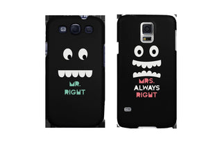 Mr Right and Mrs Always Right Matching Couple Phone Cases Gift for couples