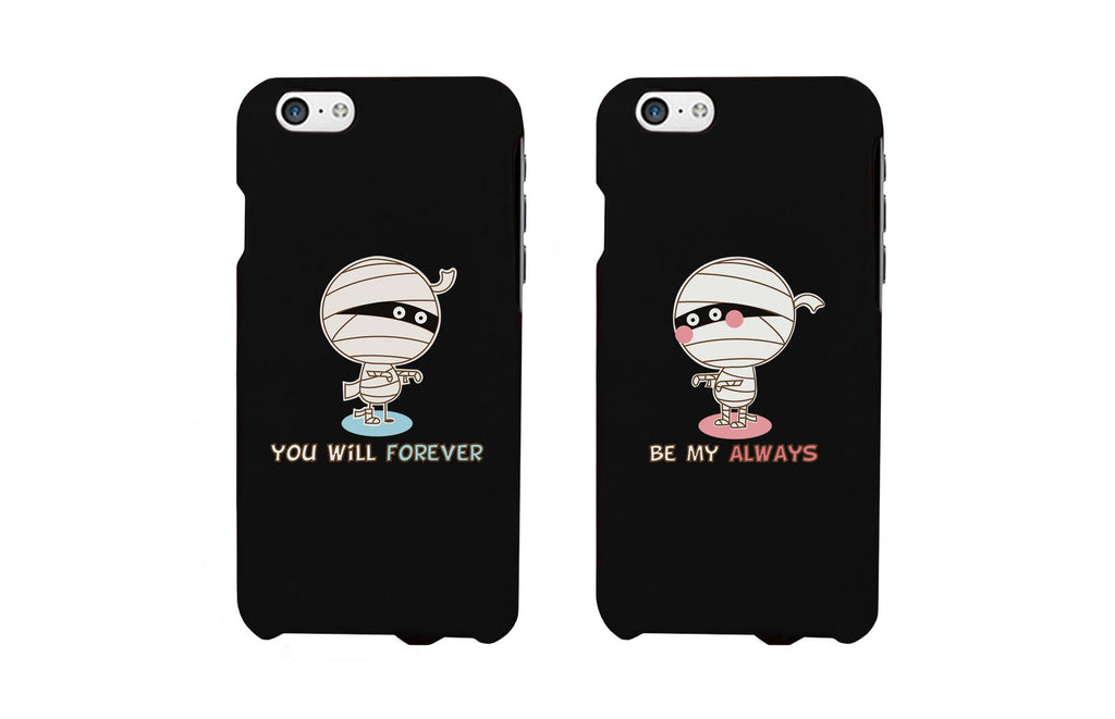 Forever Always Mummies Black Matching Couple Phone Cases Halloween Gifts