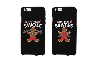 Holiday Gingerbread Swole Mates Matching Couple Phone Cases (Set)