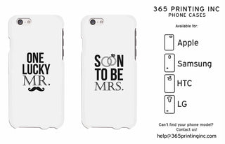 One Lucky Mr. and Soon to be Mrs. Cute Couple Phonecases Gifts for Groom and Bride