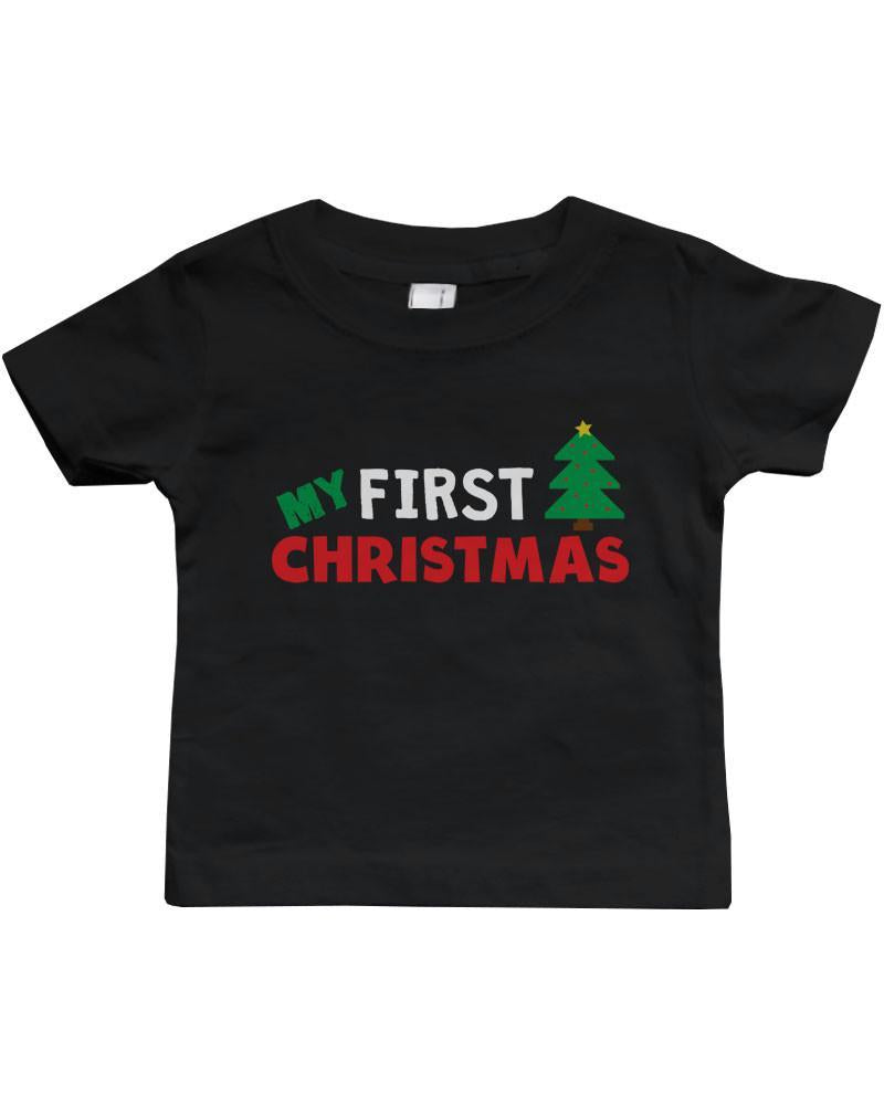 Graphic Snap-on Style Baby Tee, Infant Tee - My First Christmas
