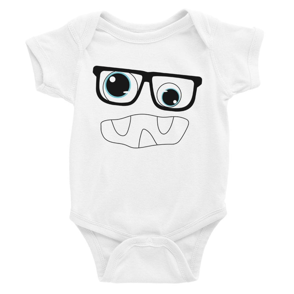 Monster With Glasses Baby Bodysuit Gift