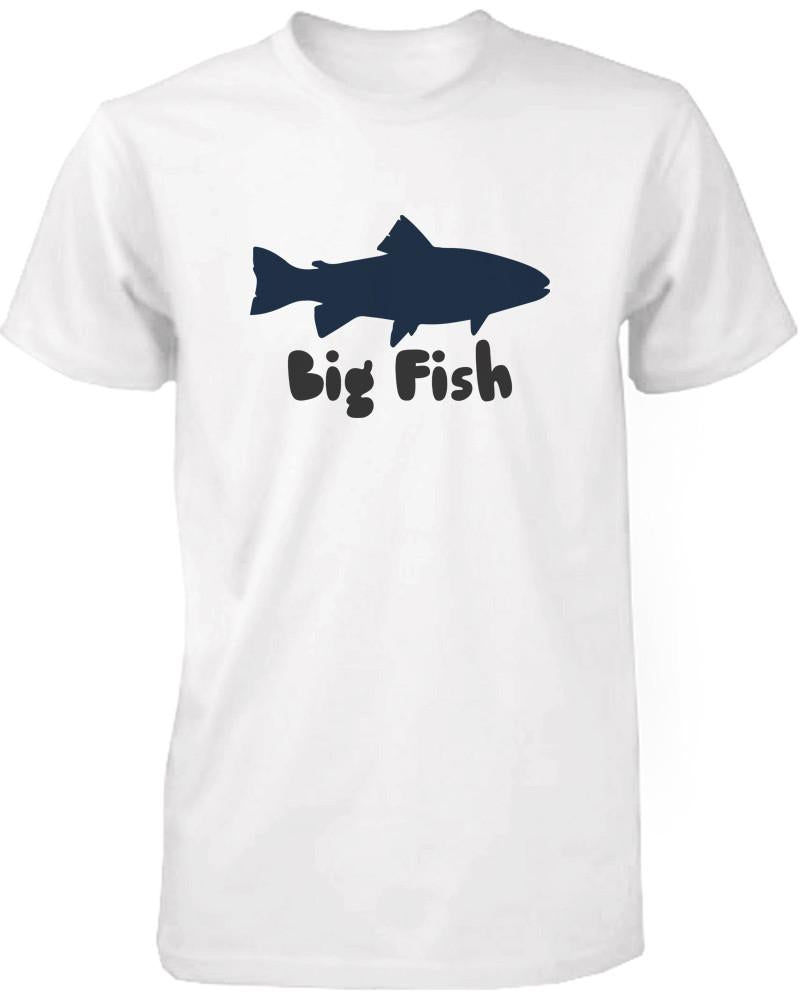 Big Fish and Little Fish Dad and Baby Matching Top Set Parent Shirts Infant Onesies