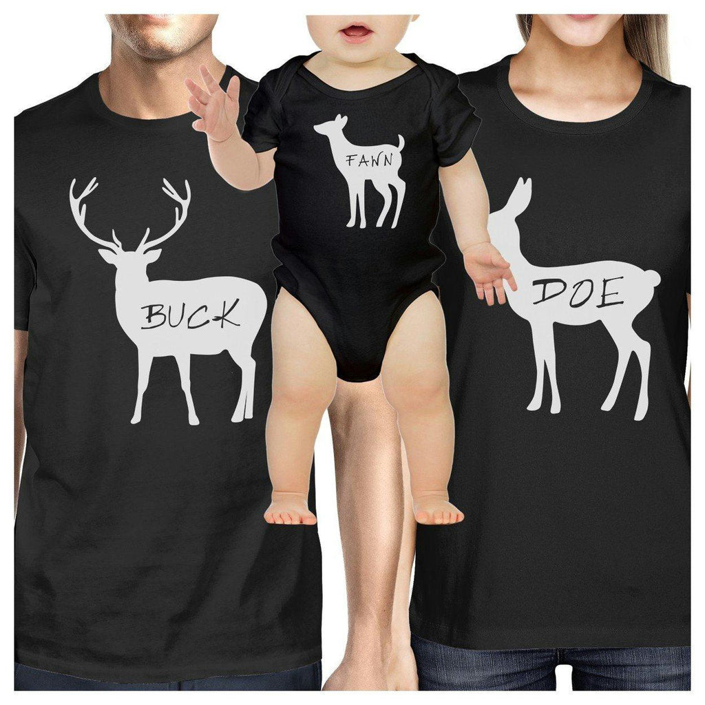 Buck Mens Black T-Shirt Unique Family Matching Shirts For Dad Gifts