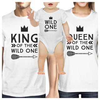 King Wild One Mens White Graphic T-Shirt Fathers Day Gifts For Him